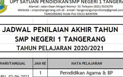Jadwal Penilaian Akhir Tahun, Tahun Pelajaran 2020 / 2021