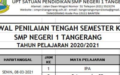 Jadwal Penilaian Tengah Semester Tahun Pelajaran 2020 / 2021