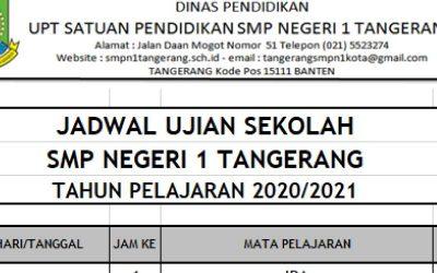 Jadwal Ujian Sekolah Tahun Pelajaran 2020/2021